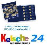 LEUCHTTURM 301082 NUMIS 2 EURO Gedenkmünzen bis 2008 Band 1