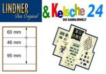 LINDNER T-Blanko-Blätter m. 3 Streifen 10er Pack 80