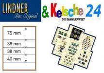 LINDNER T-Blanko-Blätter m. 4 Streifen 10er Pack 80