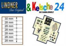 LINDNER T-Blanko-Blätter m. 7 Streifen 10er Pack 80