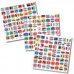 SAFE 1862 Kennzeichnungs Flaggen Set Ganze Welt mit 192 verschiedene Flaggen selbstklebend für Münzblätter - Briefmarkenblätter - Fotoalben -