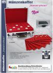 SAFE 269-9 ALU Münzkoffer XXL STANDARD MIXED mit 8 roten Münztableaus für 277 Münzen bis 46 mm