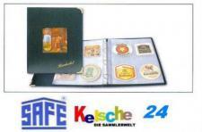 SAFE 4118 DESIGN Bierdeckel Album Sammelalbum A4 mit 10 Hüllen Ergänzungsblättern SAFE 495 für 80 Bierdeckel