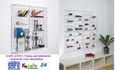 SAFE 5211 ACRYLGLAS Sammel Vitrinen Universal XL Modul B Maße 60 x 60 x 10 cm + 2 x 4 Zwischenböden - Für Ihre Schätze von A - Z