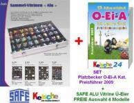 O-EI-A Platzbecker Ü-Ei Kat + SAFE Vitrinen Ü-Eier