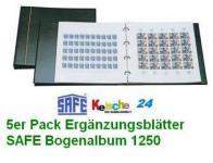 5 x SAFE 6030 Ergänzungsblätter WEISS 1 Tasche 324 x 330 mm Für das Bogenalbum SAFE 1250