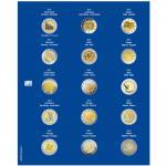 1 x SAFE 7822-7 TOPset Münzblätter Ergänzungsblätter Münzhüllen Münzblatt mit farbigem Vordruckblatt für 2 Euromünzen Gedenkmünzen 2011 - 2012