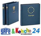 SAFE 7050 Yokama Ringbinder Album Favorit Blau mit Länderwappen Wappenbinder + Titel Belgien Für Banknoten - Postkarten - Briefe - Fotos - Bilder - Briefmarken