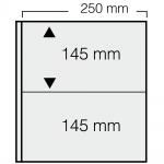 5 x SAFE 7352 Banknoten Hüllen Ergänzungsblätter 2er Teilung 250x 145 mm