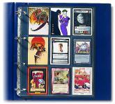5 x SAFE 478 Compact A4 Einsteckblätter Hüllen Spezialblätter Schwarz 70x95 mm Für 18 Spielkarten