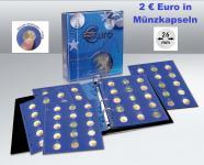 SAFE 7302-B1 TOPset Münzalbum 2 EUROMÜNZEN in Münzkapseln 26 + 10 Blätttern + Vordrucke 2004 bis 2012