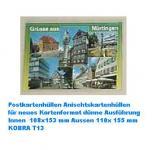 100 KOBRA T13 Postkartenhüllen neue Postkarten Ansichtskarten Außen 110 x 155 mm Innen 108 x 153 mm