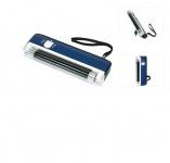 LINDNER 7081 UV Pocket Prüfer Prüfgerät Lampe 4W / 365 nm mit Taschenlampen Funktion + Aufsteller Briefmarken Geldscheine Banknoten