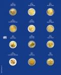 1 x SAFE 7302-24 TOPset Münzblätter Ergänzungsblätter Münzhüllen mit farbigem Vordruckblatt für 2 Euromünzen Gedenkmünzen in Münzkapseln 26 - 2017