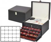 LINDNER 2376-2720E NERA KABINETT Sammelkassette Ablagefach 6 Schuber 2720E Für 120 Münzen bis 47 mm