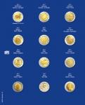 1 x SAFE 7302-23 TOPset Münzblätter Ergänzungsblätter Münzhüllen mit farbigem Vordruckblatt für 2 Euromünzen Gedenkmünzen in Münzkapseln 26 - 2017