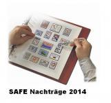 SAFE 1614 dual Nachträge - Nachtrag / Vordrucke Frankreich - France Jahresschmuckblätter - 2014