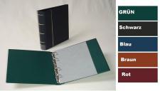 KOBRA CSX Hellbraun - Braun Universal Ringbinder Sammelalbum (leer) zum selbst befüllen Für ETB - Briefe - Postkarten - Banknoten - Münzen