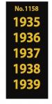 SAFE 1158 SIGNETTEN Aufkleber Jahreszahlen Year dates 1935 1936 1937 1938 1939