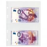10 x LINDNER K02 Karat Folienblätter Ergänzungsblätter Für 0 Euro Souvenir Banknotenalbum Karat