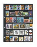 1 x LINDNER 4106 Einsteckhüllen Ergänzungsblätter Publica L A4 6 Taschen / Streifen schwarz 47 x 220 mm Für Briefmarken