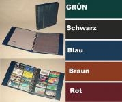 """KOBRA G29 Schwarz Telefonkartenalbum Visitenkartenalbum """" XL """" mit 10 Blättern G28E Für 80 Telefonkarten Visitenkarten"""