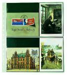 1 x SAFE 7751 Einsteckblätter Spezialblätter Favorit 3 quer & 2 senkrecht Für 10 neue Postkarten - Ansichtskarten - Banknoten - Geldscheine Papiergeld