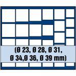 1 x SAFE 6368 SP Tableaus Einsätze SMART 27 eckigen Fächern MIXED für Münzen bis 39 mm - Ideale universelles Starter Tableaus für Anfänger