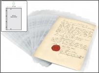 100 x SAFE 5482 A4 Ergänzungsblätter Sammelhüllen PP Folie 1 Tasche 297x211 mm Für Briefe Dokumente Zeugnisse Verträge
