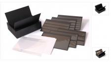KOBRA KSK Komplett Patent - Kassette schwarzer Kunststoff + 30 Einsteckkarten DIN A5 aus Kunststoff Mix K11 - K16