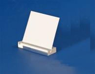 3 x SAFE 5161 Acryl Schilderhalter 50 mm Oberseite geschlitzt - Für Schaufenster & Vitrinen & Aufsteller & Schilder & Preisetiketten & Etiketten & Preisschilder