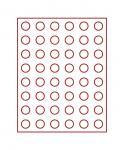LINDNER 2949 Münzbox Münzboxen Rauchglas 48 x 24, 25 mm für 48 Stück 50 Cent Euro - US Quarters