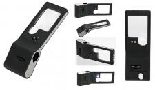 Lindner S7159-S Taschenlupe Lupe Lampe 6 in 1 - 3x 10x fache Verg.+ LED + UV + Mikroskop 55x + Etui