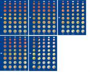 1 x SAFE 1861 TOPset farbige 5x Vordruckblätter für Münzblätter 7858 - Euromünzen Kursmünzensätze KMS Set von Andorra - Zypern