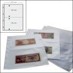 100 SAFE 5479 Banknotenhüllen Hüllen Schutzhüllen Ergänzungsbätter DIN A4 mit 2er - 2C - Teilung für bis zu 400 Geldscheine - Papiergeld - Banknoten