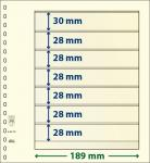 1 x LINDNER DT802700 DT-Blanko-Blätter Blankoblatt 18-Ring Lochung - 2x 7 Taschen 28 x 189 mm