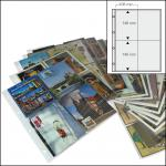50 x SAFE 5471 XL Postkartenhüllen Ansichtskartenhüllen DIN A4 4er Teilung für bis zu 400 Karten