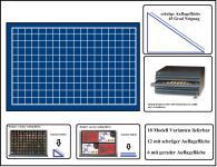 SAFE 6517 Schubladen für SAFE 6500 mit schräger Auflagefläche blaue Einlage 144 eckige Fächer 17 mm - Ideal für 1/10 Unze Oz Goldmünzen - 1 Pfennige - 1 Cent Euro Münzen