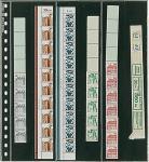 1 x LINDNER 836 Klarsichthüllen Schwarz 6 senkrechte Streifen 38 x 290 mm Für Rollenmarkenstreifen
