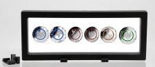 SAFE 4529 SCHWEBERAHMEN NEO FOTORAHMEN BILDERRAHMEN 3D Schwarz 230 x 90 mm / 208 x 67 mm Für Münzen