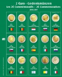 SAFE 7341-18 Premium Münzblätter 7393 mit Vordruckblättern 2 Euro Münzen Gedenkmünzen 2016 - 2017