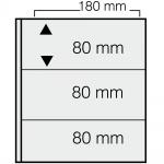1 x SAFE 1278 ARTline Ergänzungsblätter Banknotenhüllen Hüllen 2er Teilung 180 x 80 mm