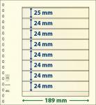 1 x LINDNER 802800 T-Blanko-Blätter Blankoblatt 18-Ring Lochung 8 Taschen 1x 25 mm 7x 24 mm x 189 mm