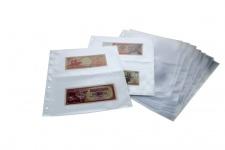10 SAFE 5479 Banknotenhüllen Hüllen Schutzhüllen Ergänzungsbätter DIN A4 mit 2er - 2C - Teilung für bis zu 40 Geldscheine - Papiergeld - Banknoten
