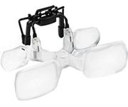 Lindner 7169 - F ESCHENBACH Vorsatzlupe Max TV CLIP 2 fache Vergrößerung - Ideal für Brillenträger