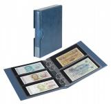 LINDNER S1406BN-B Blau Rondo Ringbinder Album Banknotenalbum + Kassette + 5x Hüllen MU140 2er Teilung & 5x MU3103 3er Teilung