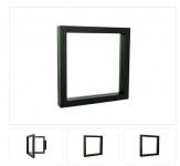 LINDNER 4837-S NIMBUS ECO 150 Schwarz Sammelrahmen Schweberahmen 3D 150x15x24 Für Schmuck Mineralien