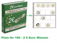 SAFE 8556 Münzalbum Designo 2 EURO MODERN-STYLE + 5 Münzblättern 8563 - Für 80 - 2 Euro Münzen