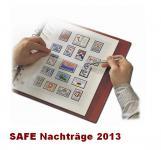 SAFE 250513SP dual Nachträge - Nachtrag / Vordrucke Liechtenstein Kleinbogen 2013