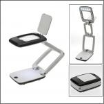 SAFE 9555 Präzision Standlupe Klapplupe Taschenlupe + 5 LED + 3 fache Vergrößerung + Batterien